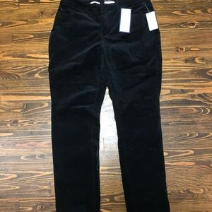 NWT Charter Club black velvet skinny jeans